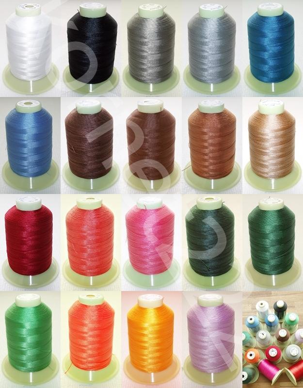 Nähgarn, Leder Garn, 100% Polyester (0,0048 €/m),  Farbe auswahl, 900 m, N30